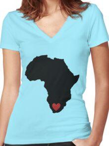 I love SA (big) Women's Fitted V-Neck T-Shirt
