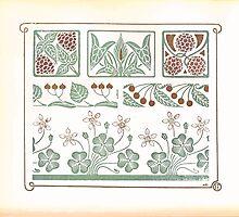 Maurice Verneuil Georges Auriol Alphonse Mucha Art Deco Nouveau Patterns Combinaisons Ornementalis 0016 by wetdryvac
