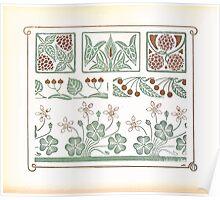 Maurice Verneuil Georges Auriol Alphonse Mucha Art Deco Nouveau Patterns Combinaisons Ornementalis 0016 Poster