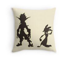 Jak and Daxter: The Precursor Legacy Silhouette Throw Pillow
