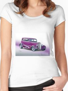 1933 Ford Victoria Sedan Women's Fitted Scoop T-Shirt