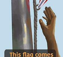 This flag comes down today!  by rachelmartinart