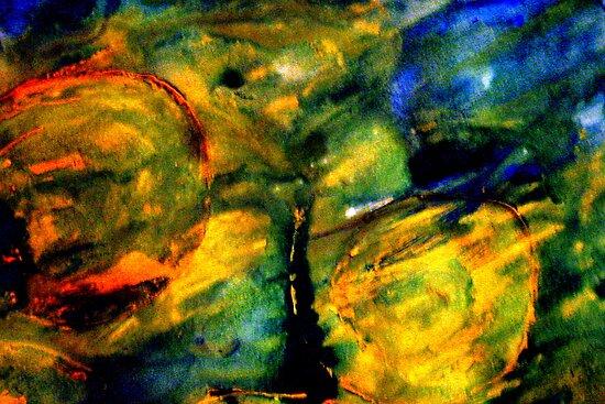 Gouache abstract by heartyart
