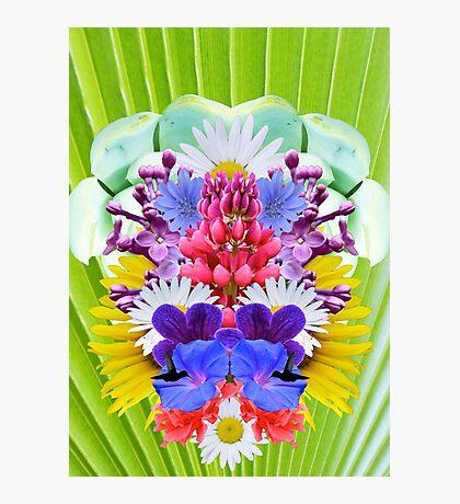 Mirrored Flowers Photographic Print