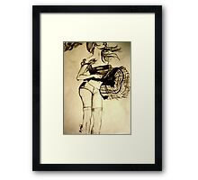 with the wind Framed Print