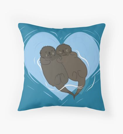 My Otter Half  Throw Pillow