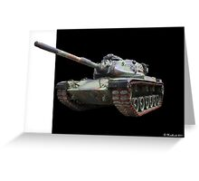 M48A2 Tank - Military Track Vehicle Greeting Card