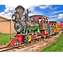 Narrow Gauge Train-HDR Photographic Print
