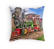 Narrow Gauge Train-HDR Throw Pillow