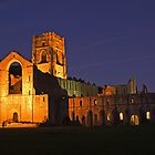 Fountains Abbey Floodlit by keighley