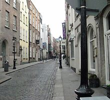 A quiet lane, Temple Bar area, Dublin  by heartyart