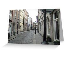 A quiet lane, Temple Bar area, Dublin  Greeting Card