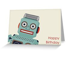 Robot Birthday Card  Greeting Card
