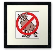 No Bull Framed Print