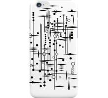 Kree City Blueprints (Black) iPhone Case/Skin
