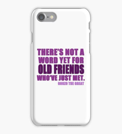 There's Not a Word Yet...(Purple) iPhone Case/Skin
