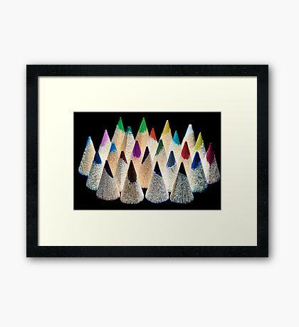 Pencil Light Framed Print