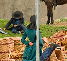 Amish Baskets by Bob  Perkoski
