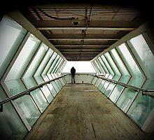 Man on footbridge, Killiney by LisaRoberts