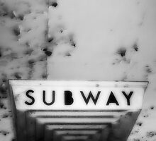 vintage subway sign by ShellyKay