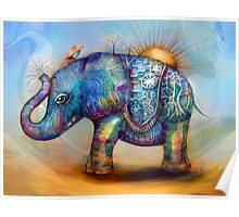 magic rainbow elephant Poster