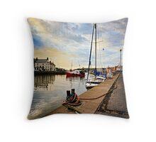Eyemouth Harbour - Berwickshire, Scottish Borders Throw Pillow