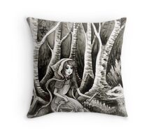 feed the wolfs  Throw Pillow