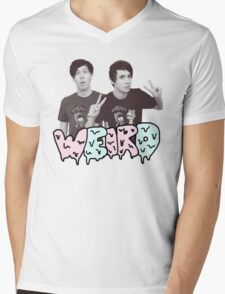 Peace Out Dan and Phil Mens V-Neck T-Shirt