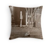 Vintage Swing with picket fence. Throw Pillow