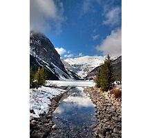 Lake Louise and Victoria Glacier Photographic Print