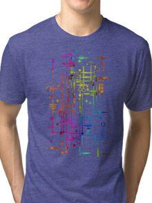 Kree City Blueprints (Watercolour Splatter) Tri-blend T-Shirt