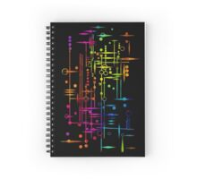 Kree City Blueprints (Watercolour Splatter) Spiral Notebook