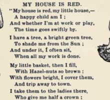 Miniature Under the Window Pictures & Rhymes for Children Kate Greenaway 1880 0034 My House is Red Sticker