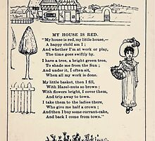 Miniature Under the Window Pictures & Rhymes for Children Kate Greenaway 1880 0034 My House is Red by wetdryvac