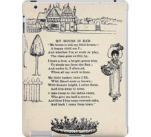 Miniature Under the Window Pictures & Rhymes for Children Kate Greenaway 1880 0034 My House is Red iPad Case/Skin