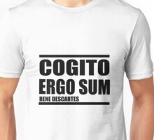 Cogito Ergo Sum (I think, therefore I am) Unisex T-Shirt