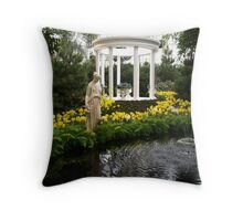 Rome in the Flowers Throw Pillow