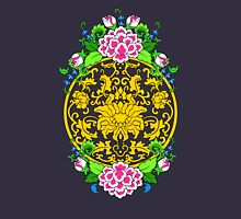 Lotus Medallion with Peonies Womens Fitted T-Shirt