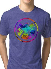 Splatter S.H.I.E.L.D.  Tri-blend T-Shirt