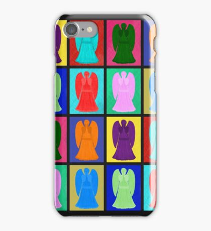 Weeping angels Pop Art Colour iPhone Case/Skin