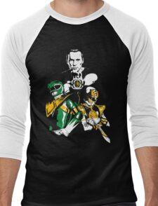 Green With White Men's Baseball ¾ T-Shirt