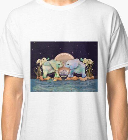 Lotus Flower Elephants of the Rainbow Classic T-Shirt