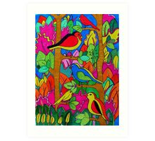 birds in the trees Art Print