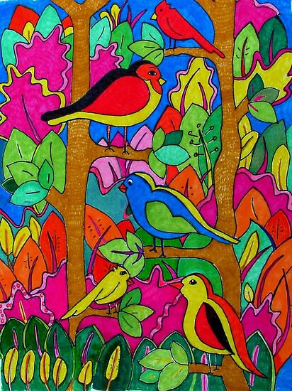 birds in the trees by carol selchert