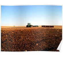 Wheat Field in Winter Poster