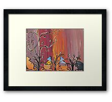 Outback Kangaroos Framed Print