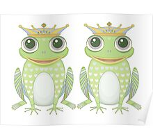 Two Frogs With Crowns Poster