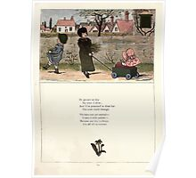 Under the Window Pictures and Rhymes for Children Edmund Evans and Kate Greenaway 1878 0033 Go Cart Poster