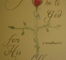 Thanksgiving card Thanks be to God by Melissa Goza
