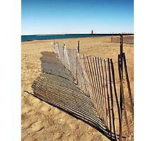 Snow Fence  Photographic Print